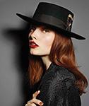 Шляпа CHRISTYS арт. CLEMENTINE cso100150 (черный)